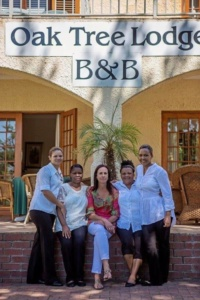 Oak Tree Lodge Staff at Entrance
